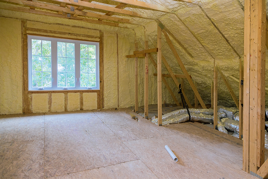 insulation of attic with thermal insulation cold barrier and insulation material thermal insulation attic